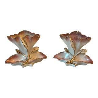 Antique Fenton Ware Flower Vases - a Pair For Sale
