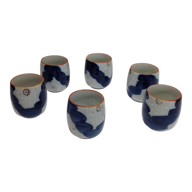 Japanese Painted Tea Cups - Set of 6 - Image 1 of 7