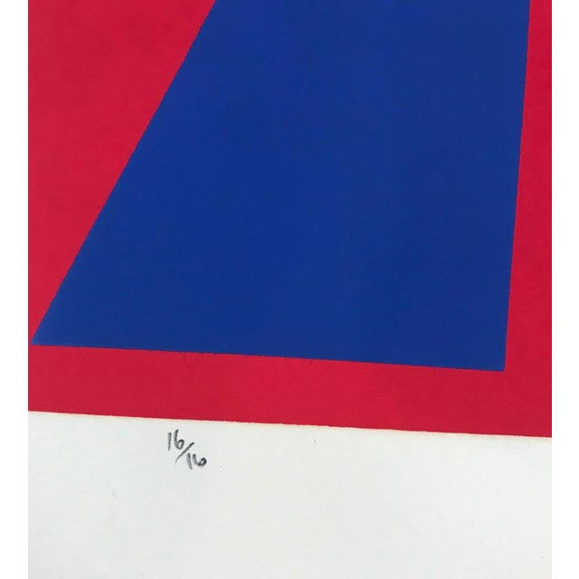 Mid-Century Modern Robert Hunter Serigraph 1972 For Sale - Image 4 of 6