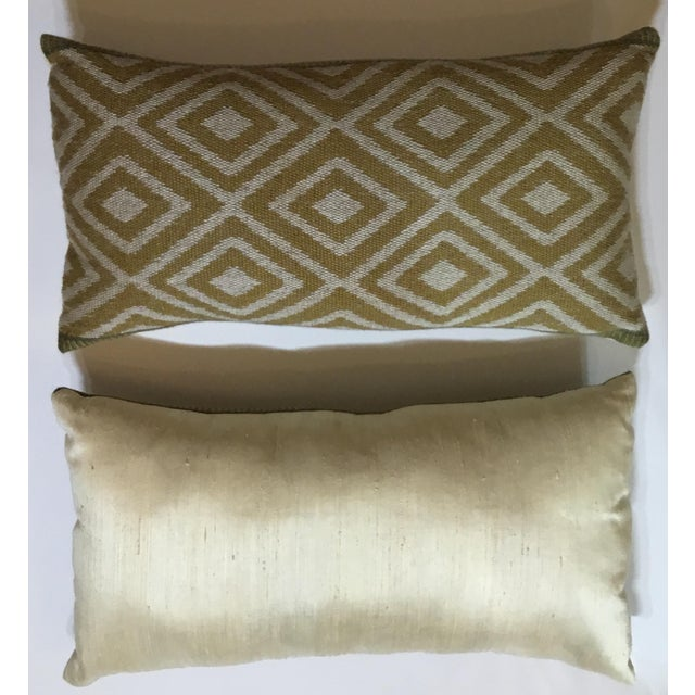 Vintage Geomtic Motif Pillows - A Pair - Image 8 of 9