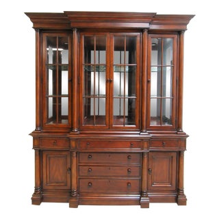 Thomasville Fredericksburg Neoclassical China Cabinet Hutch Breakfront Display For Sale