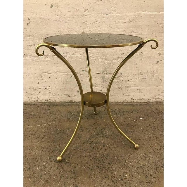 Maison Baguès style French Gueridon table. Has a smoked glass top.