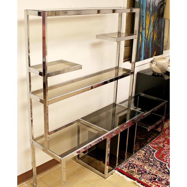 Mid-Century Modern Mid Century Modern Baughman Chrome Expandable Shelving Unit Etagere 1970s For Sale - Image 3 of 8