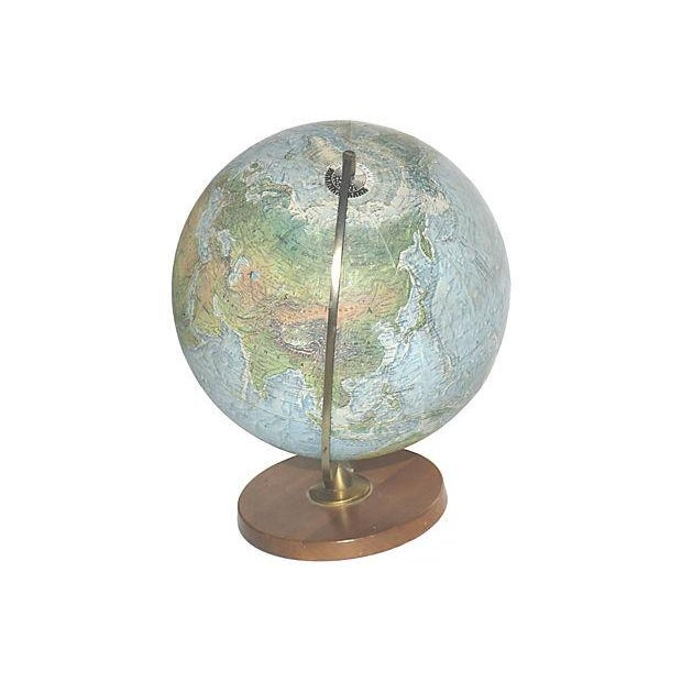 Vintage Lighted World Globe - Image 4 of 4