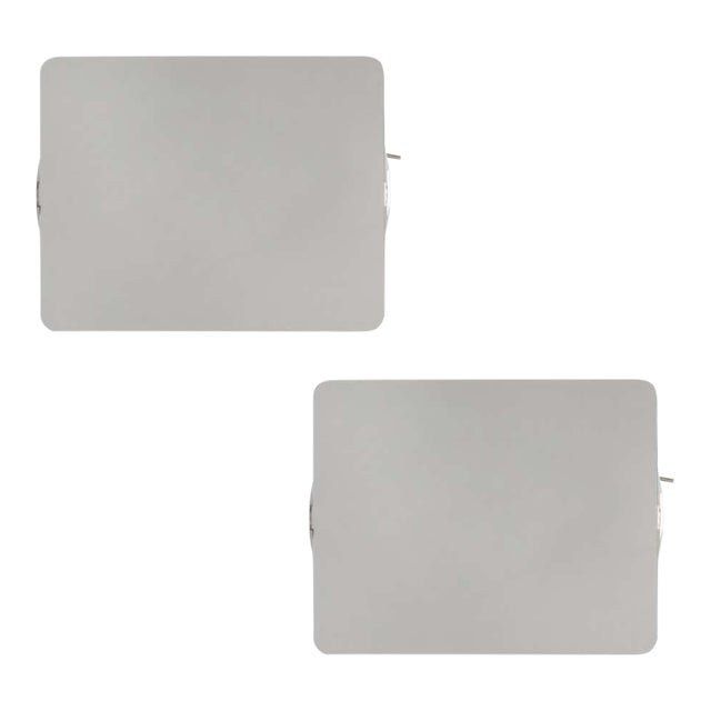 Charlotte Perriand Cp1 Brushed Aluminum Wall Lights - a Pair For Sale