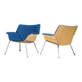 Swoop Plywood Lounge Chairs in Ash Wood Attributed to Brian Kane for Herman Miller - a Pair For Sale
