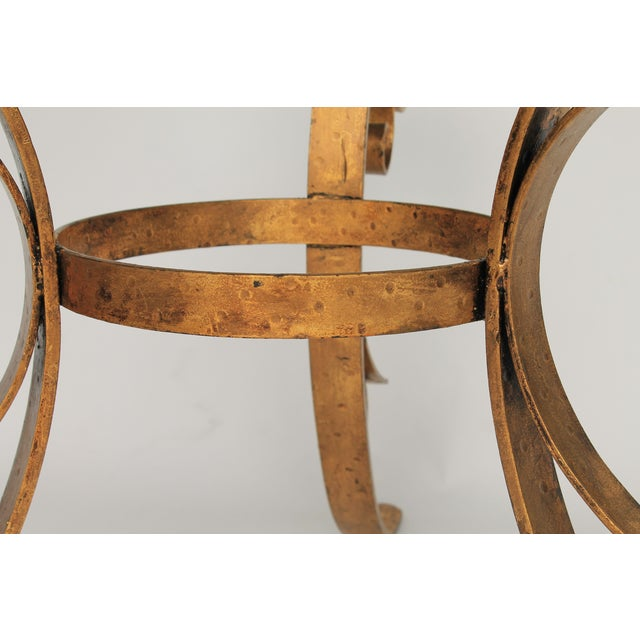 Gilded Scrolled & Glass Dining Table For Sale In Milwaukee - Image 6 of 7