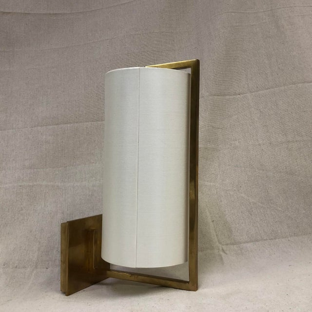 Visual Comfort Framework Wall Sconce in Soft Brass For Sale - Image 11 of 11