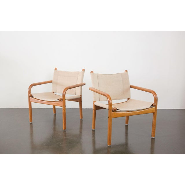 Mid-Century Danish Safari Chairs - A Pair For Sale - Image 13 of 13