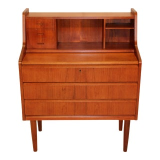 Teak Upright Desk/Vanity
