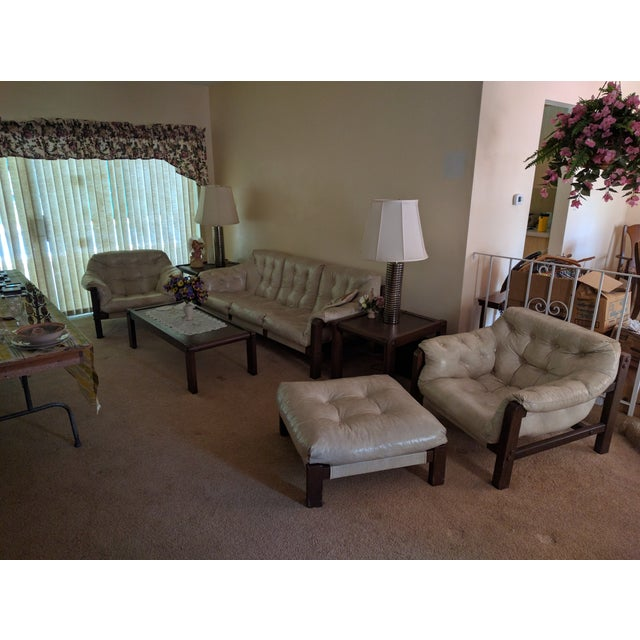 Mid-Century Sling Chairs & Ottoman - Set of 3 - Image 5 of 5