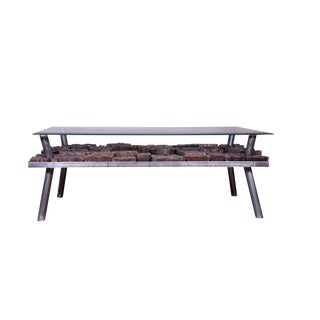 Contemporary Glass Top Coffee Table For Sale