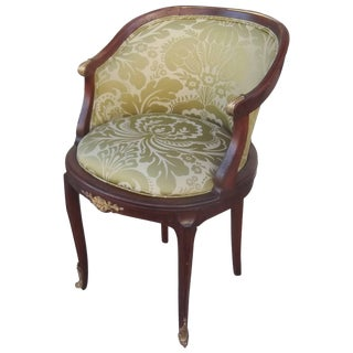 Late 19th Century Antique French Walnut Accent Chair For Sale