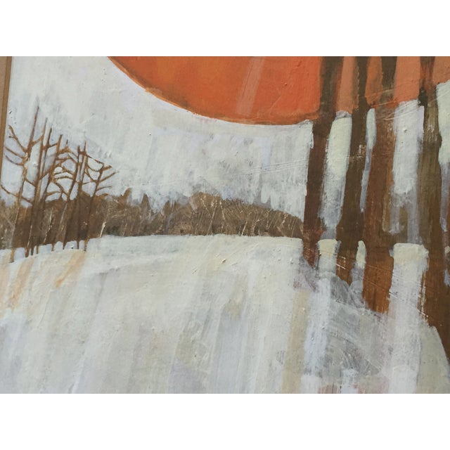 Vintage 1960's Oil Landscape Painting Winter Trees For Sale In Portland, OR - Image 6 of 9