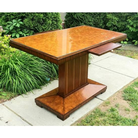 Art Deco Art Deco Maitland Smith Foyer Table For Sale - Image 3 of 6