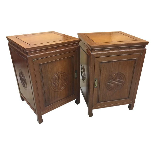 George Zee Side Tables Speaker Cabinets - Pair - Image 1 of 5