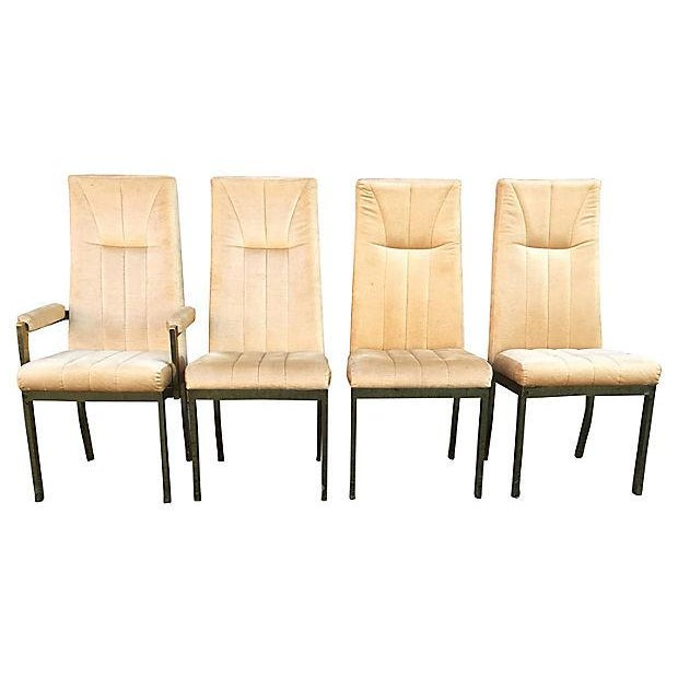 Milo Baughman Style Highback Chromcraft Dining Chairs - Set of 4 For Sale - Image 9 of 10