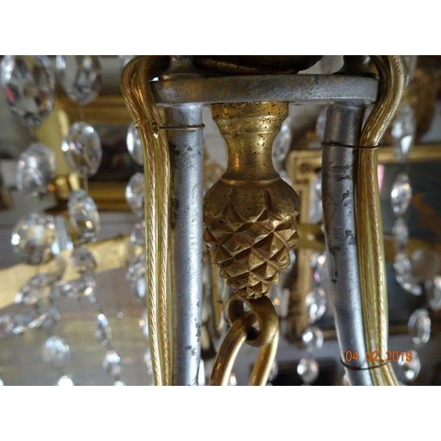 Mid 19th Century 19th Century French Empire Crystal Chandelier For Sale - Image 5 of 13