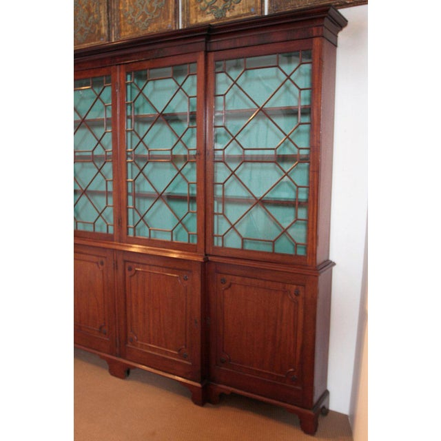 Late 18th Century Late 18th Century George III Mahogany Breakfront For Sale - Image 5 of 13
