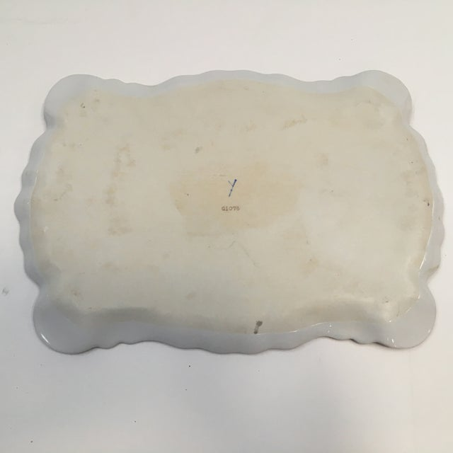 Hand Painted Embossed Ornate Dresser Tray - Image 7 of 8