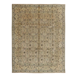 1950s Vintage Persian Tabriz Rug - 10′1″ × 12′9″ For Sale
