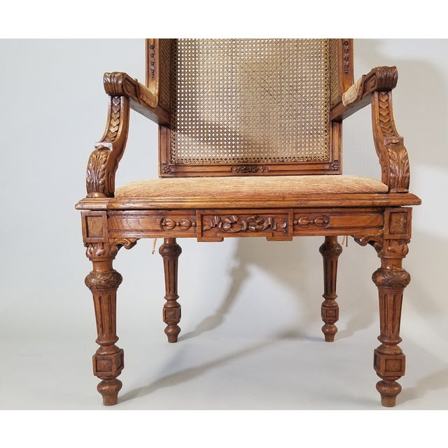 1910s Vintage Italian Renaissance Style Armchairs- a Pair For Sale - Image 9 of 13