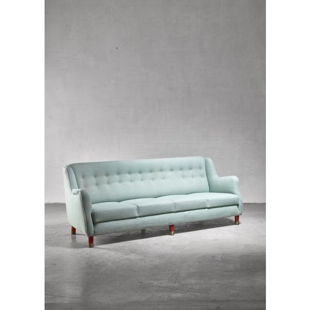 1970s Grete Jalk Four Seater Sofa for Johannes Hansen, Denmark, 1970s For Sale - Image 5 of 5