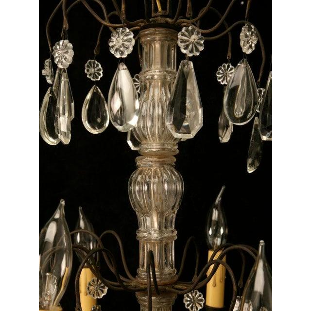 Vintage French Crystal 8 Light Chandelier For Sale - Image 4 of 10