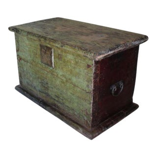 Huge 1650s Asian Trunk, Wood & Iron, Handmade Craftsmanship