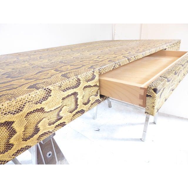 Modern Snake Skin Writing Desk For Sale In Portland, ME - Image 6 of 10