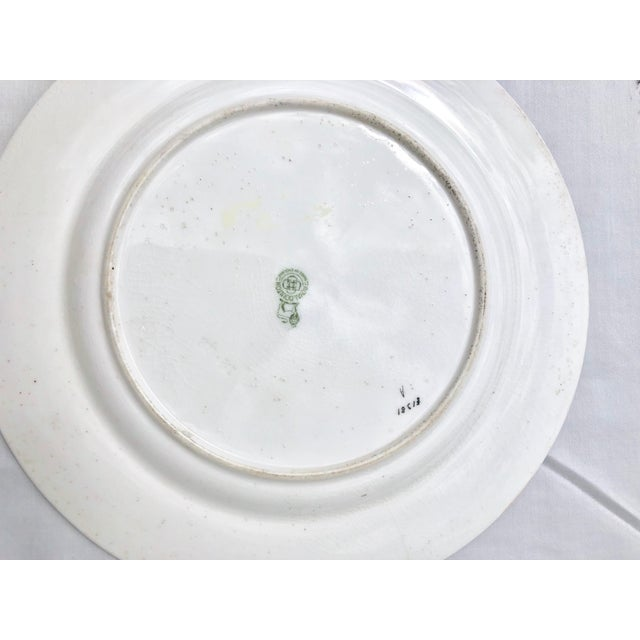 """Ceramic Tea Sandwich Hand Painted Porcelain """"Indian Tree"""" Royal Doulton Plates Circa 1930 - Set of 6 For Sale - Image 7 of 10"""