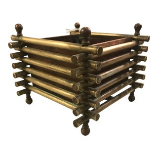 Brass/Bronze Planter & Copper Liner
