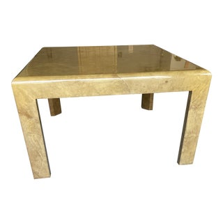 1980s Goat Skin Dining Table For Sale