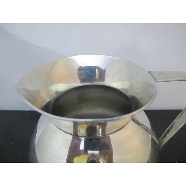 Mid 20th Century Modernist Brooks Brothers Silver Plate Water Pitcher W1814, England For Sale - Image 5 of 7