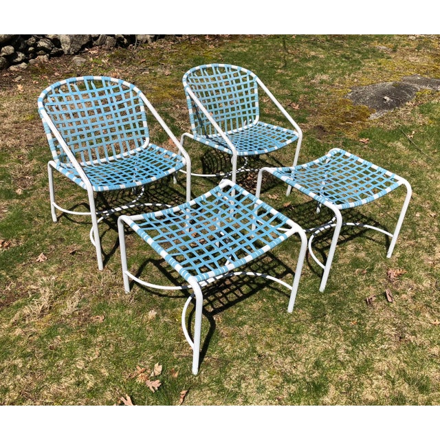 Tadao Inouye for Brown Jordan Chairs & Ottoman - Set of 4 - Image 2 of 9