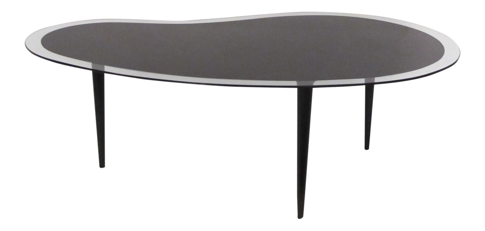 Gilbert Rhode Attributed Glass Coffee Table