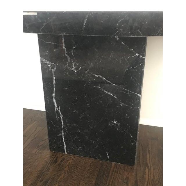 Ello 1960s Stone International for Ello Black Marble Pedestal Console For Sale - Image 4 of 10