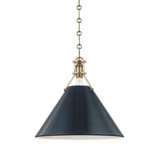 Painted No.2 1 Light Large Pendant - AGB/DBL Preview