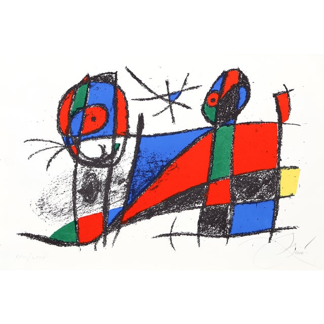 Joan Miro, Lithograph VI (M. 1042), Lithograph For Sale