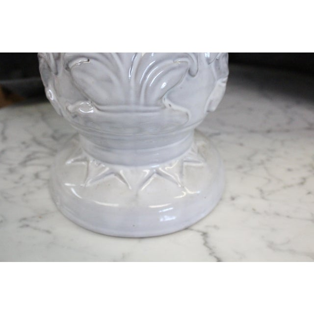 Large White Compote Planter For Sale - Image 4 of 7