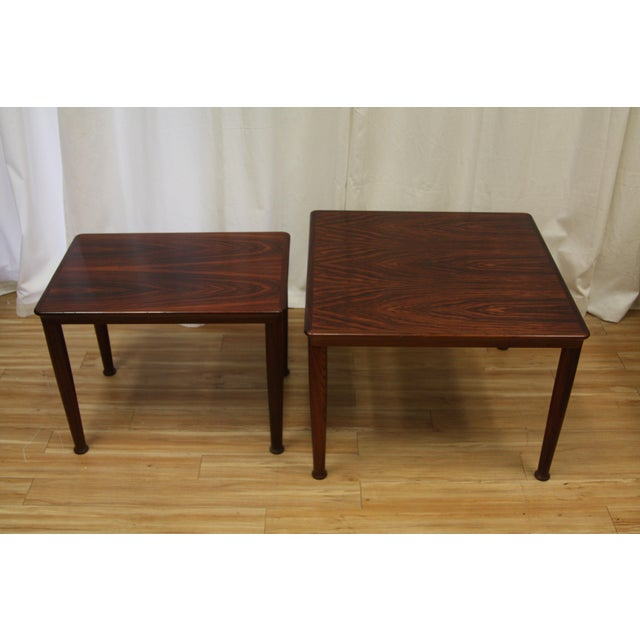 Henning Kjærnulf for Vejle Stole Rosewood Side Tables - A Pair For Sale - Image 9 of 10