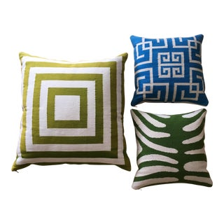 Jonathan Adler Hand Loomed Pillows-Set of 3
