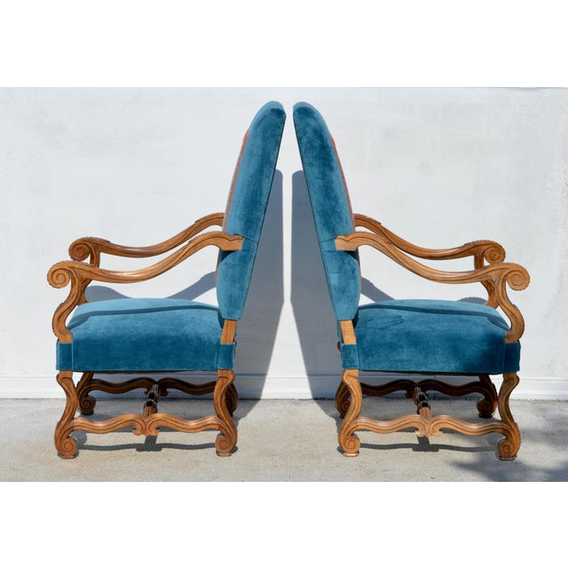 Louis XIV Style Os De Mouton Armchairs, a Pair For Sale - Image 4 of 12