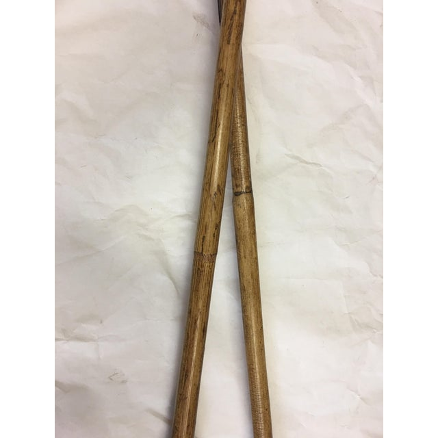 Equestrian Polo Mallets Decor - A Pair For Sale - Image 5 of 6