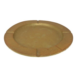 Large Mid-Century Modern Brass Ashtray For Sale