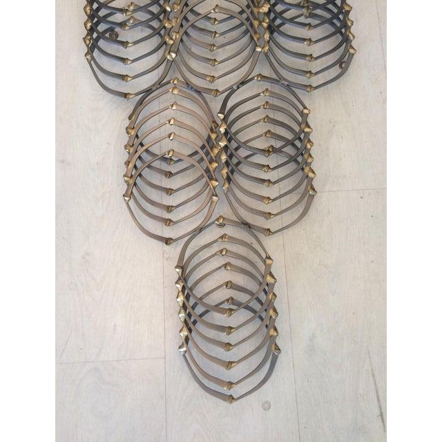 Vintage Ron Schmidt Brutalist Metal Nail Sculpture Wall Art | Chairish