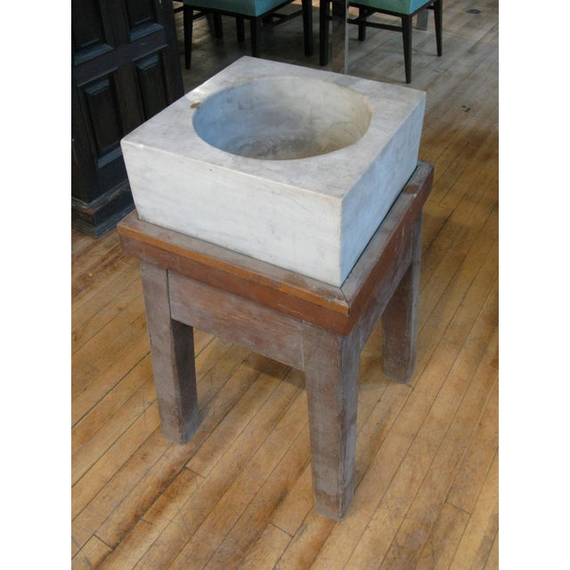 Antique 19th Century Marble Mortar From a Newport Ri Estate For Sale - Image 4 of 6