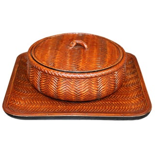 Japanese Confection Bowl & Tray For Sale