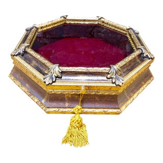 French Gilded Jewelry Box For Sale