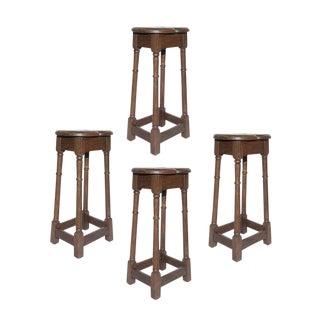English Oak Stools - Set of 4